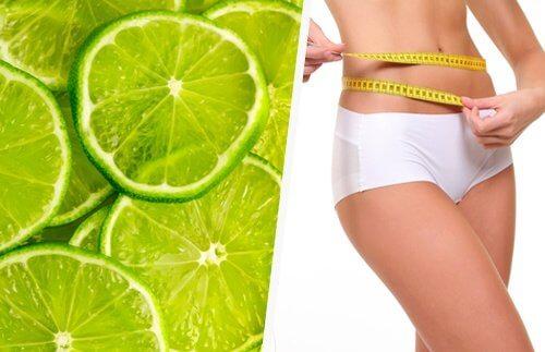 Limoni e donna che misura circonferenza vita