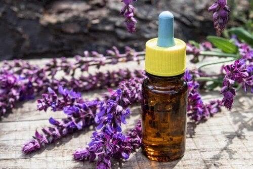 Olio essenziale e fiore di lavanda.