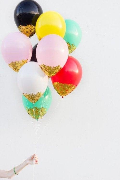 Palloncini con brillantini