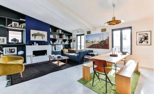 Salone in stile minimalista
