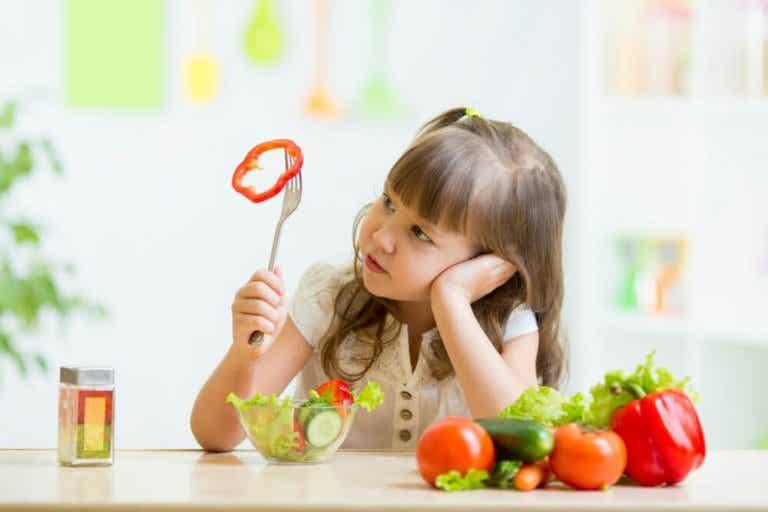 Bambini che rifiutano la verdura