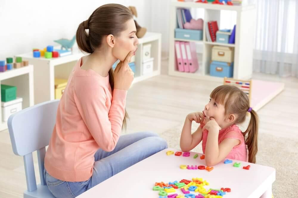 Esercizi per bambini con disturbo di linguaggio.
