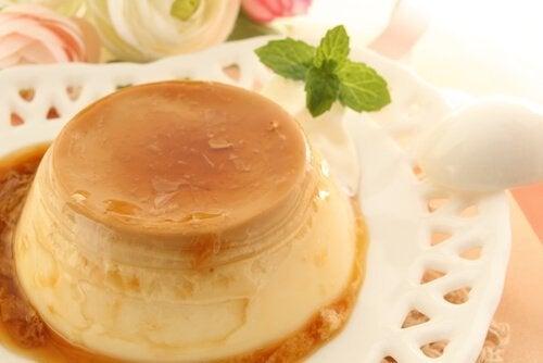 Un delizioso budino alla vaniglia