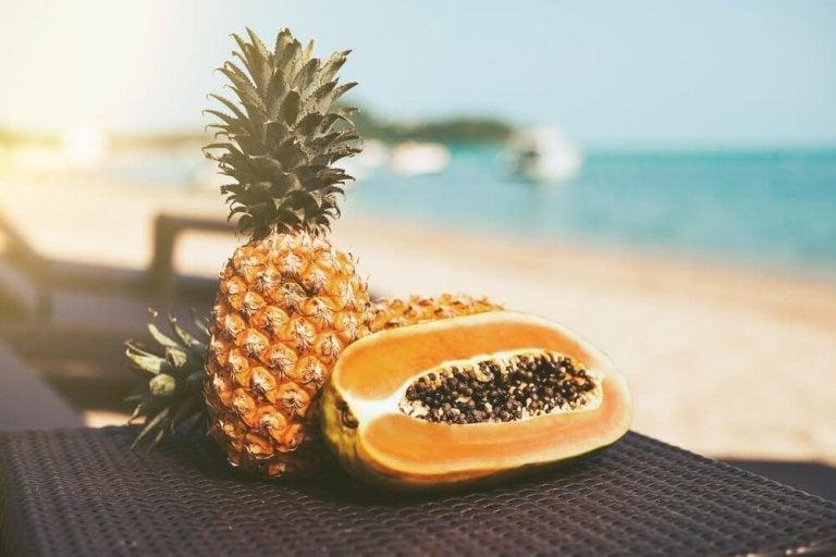 Dieta depurativa a base di papaya e ananas