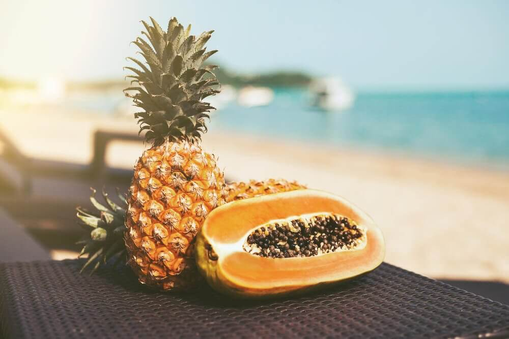 Dieta depurativa di papaya e ananas
