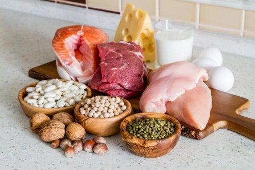 Diversi tipi di proteine