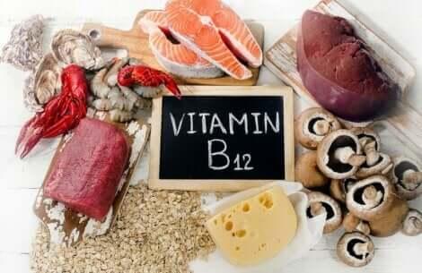 Nutrienti necessari dopo i 40 anni: fonti alimentari di vitamina B12.