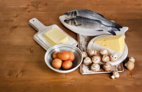 Fonti alimentari di vitamina D.