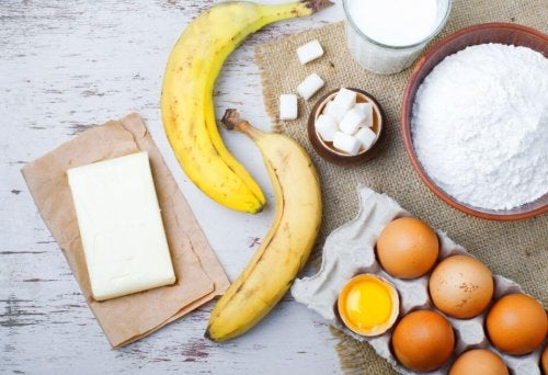 Ingredienti per la torta di banane