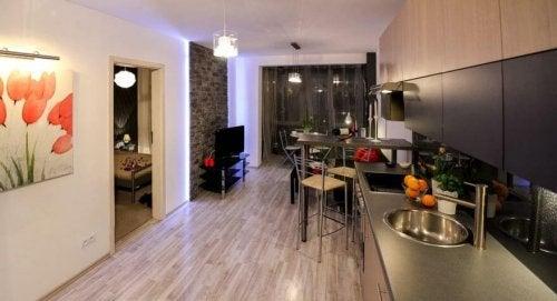 Interno di una casa minimalista