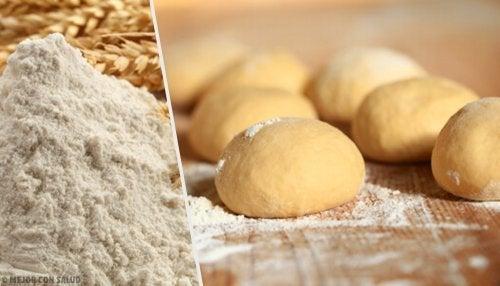 Pane fatto in casa e farina