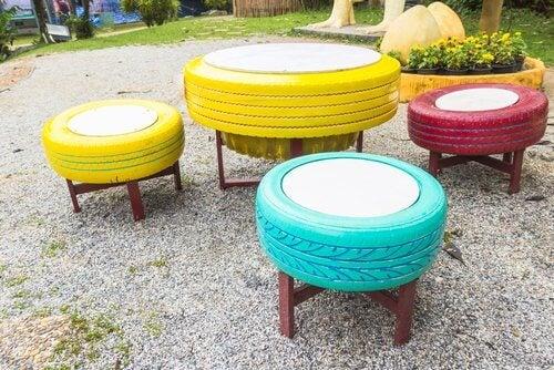 8 modi per utilizzare gli pneumatici vecchi