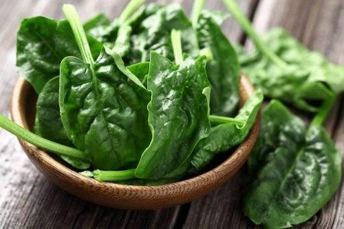 Spinaci fonte proteica per vegani