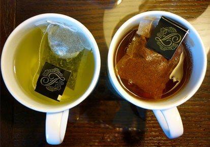 Tè verde e tè nero