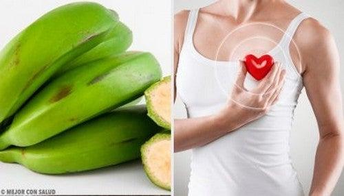 6 benefici della banana verde che probabilmente non conoscete