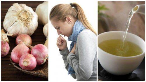 Ridurre la tosse con l'infuso di aglio e cipolla