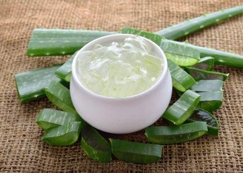 Crema di aloe vera contro l'iperpigmentazione