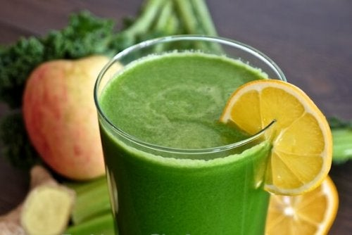Frullato di spinaci
