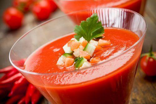 Gazpacho cene a basso contenuto calorico