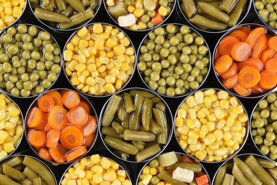 Mais, carote, piselli e fagiolini