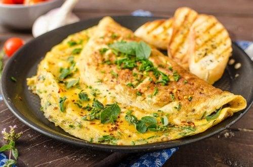 Omelette agli spinaci