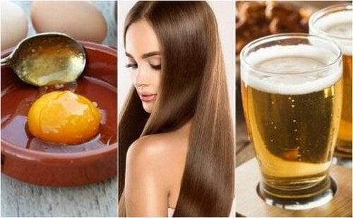 Trattamento a base di uova e birra per capelli setosi e sani