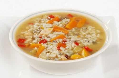 Zuppe in caso di diarrea: recuperare le energie