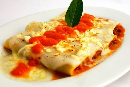 Cannelloni besciamella pollo