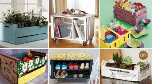 7 oggetti artigianali fatti con casse per decorare