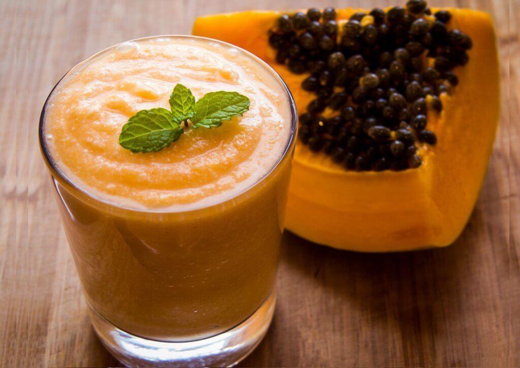 Frullato di papaia