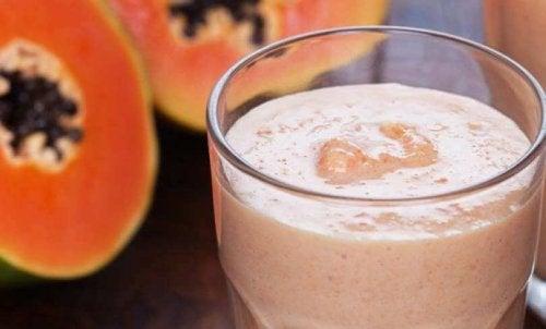 Frullato papaya latte di mandorle