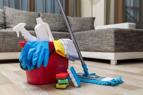 Le pulizie domestiche.