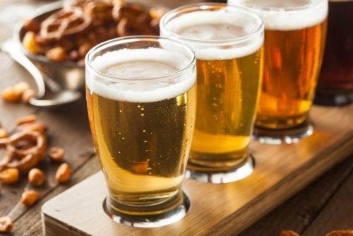 birre chiare e rossa