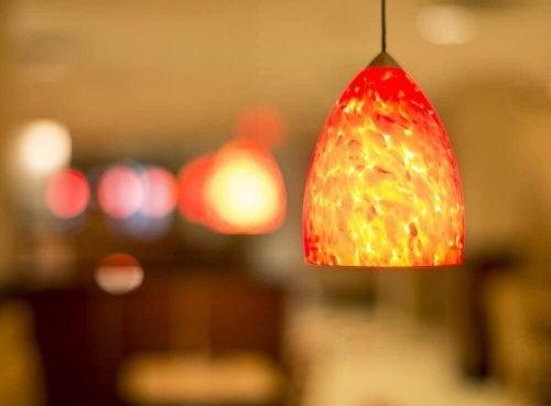 Lampadario rosso