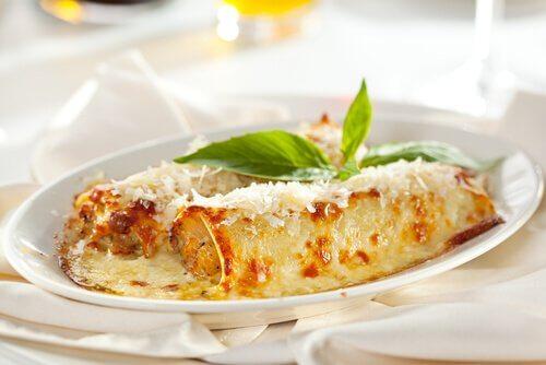 Cannelloni prosciutto e formaggio