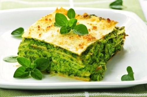Sformato proteico di spinaci