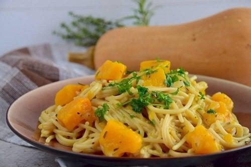 Spaghetti con la zucca, deliziosa ricetta
