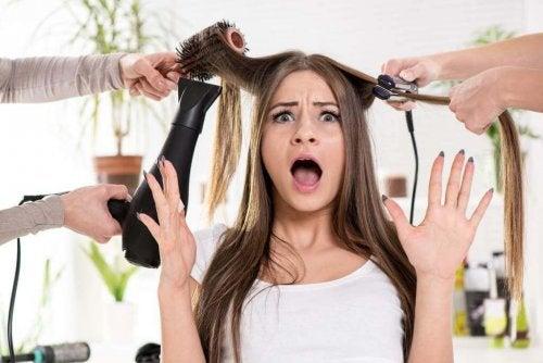 Fonti di calore nei capelli