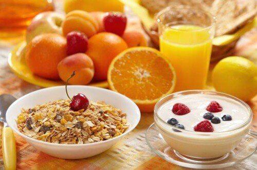 Colazione sana con arance
