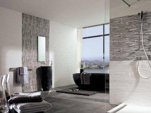 decorazioni per il bagno pareti con texture