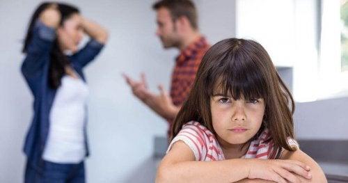 Effetti fisici dei litigi sui bambini