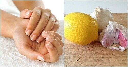 Indurente per unghie con aglio e limone