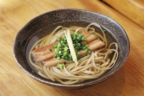 Spaghetti in brodo di pesce