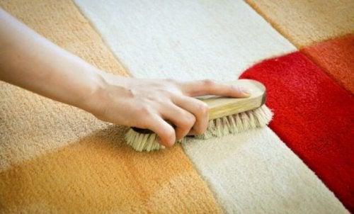 Strofinare il tappeto