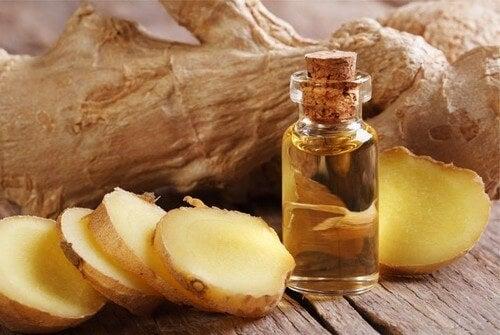 Calmare il dolore con zenzero e olio d'oliva