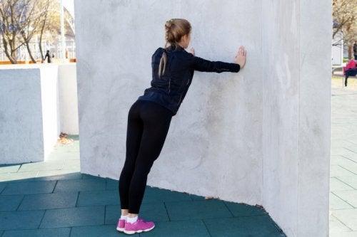 Flessioni al muro