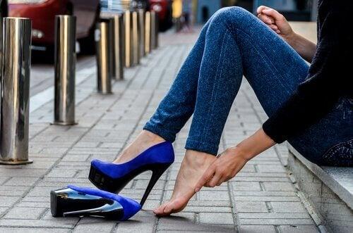 Borotalco nelle scarpe