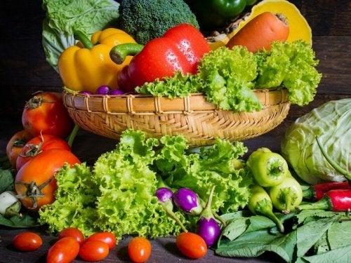 Verdure e ortaggi colorati