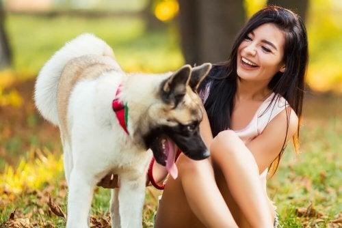 Ragazza al parco con cane
