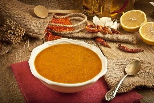 Ricetta facile della vellutata di lenticchie